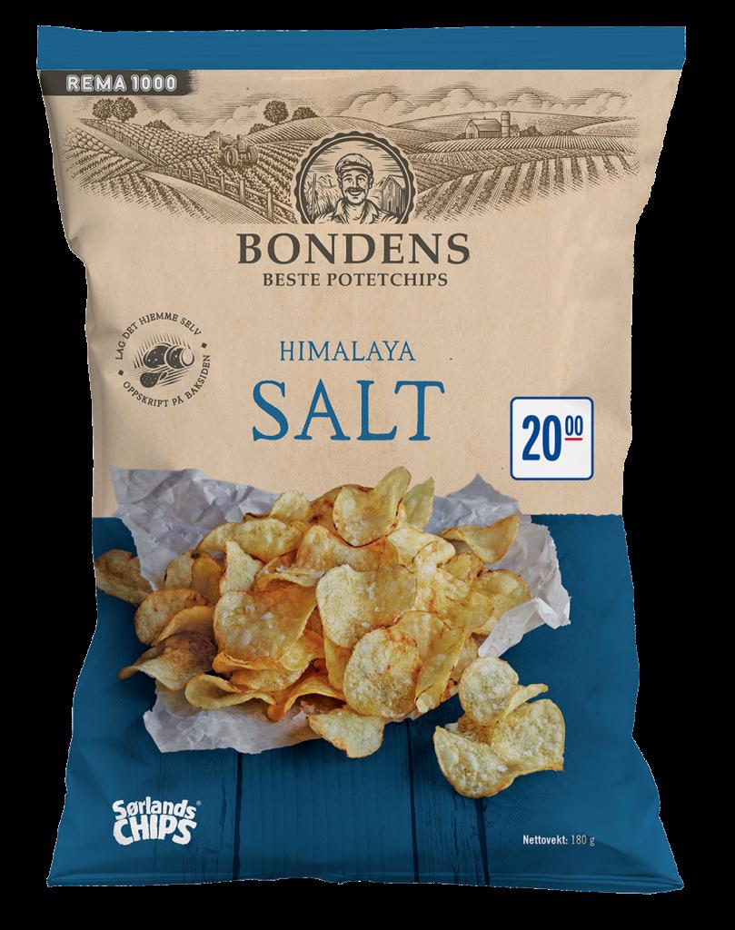 1 Sorlandschips Bondens Himalaya Salt 180 g Packhsot 202011